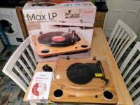 ION Audio Max LP Turntable with Built-In Stereo Speakers VINYL Record Player