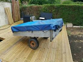Galvanised metal box trailer