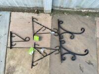 5 metal hanging basket brackets