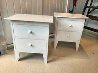 2 x Warren Evans Bedside Table Cabinets