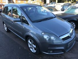 2008/57 VAUXHALL ZAFIRA 1.8i 16V ELITE 5DR GREY,FULL LEATHER,STUNNING CONDITION,DRIVES WELL