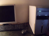Dell Inspiron Desktop computer for sale, with keyboard and monitor plus mouse