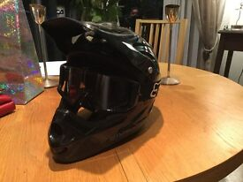 Mountain Bike full face helmet ,goggles Compression upper body spine protector