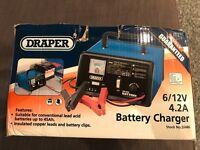Draper 6/12V 4.2A Battery Charger