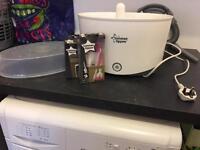 Perfect prep machine and steriliser set