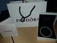 Genuine Pandora mesh clasp bangle, comes with box and bag