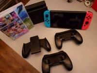 Nintendo Switch w/ Mario Kart 8 Deluxe + Zelda and Accessories