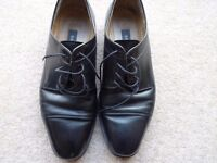Men's BALLY shoes - Black leather Size 8.5