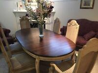 Rustic dinning room table and sideboard