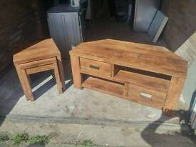 Tv cabinet nest of tables
