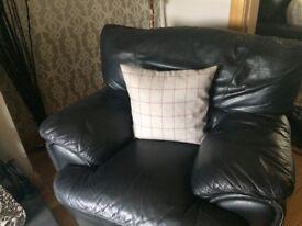 Black leather suite