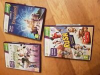 Kinect console games x 3