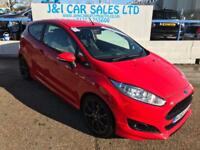 FORD FIESTA 1.0 ZETEC S 3d 124 BHP A GREAT EXAMPLE INSIDE AND (red) 2016