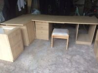 Sharps Office furniture including filing cabinet, desk drawers and cupboard