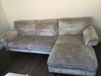 Grey Laura Ashley Chaise Sofa
