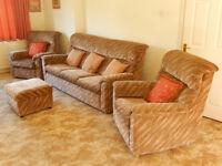 3 Piece Suite plus Footstool - Parker Knoll