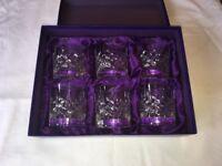***Set of 6 Edinburgh Crystal whiskey tumblers***