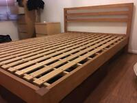 MUJI double bed frame and 3 under drawers
