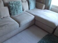 DFS Freya 4 Seater lounger and footstool.