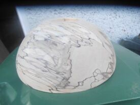 woodturning lathe spalted beech bowl blank