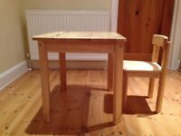 John Lewis Childrens Wooden Desk & Chair.