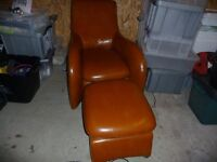 Stylish leather chair