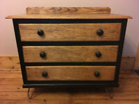 Chest of Drawers - Up cycled /shabby chic /Hair pin legs