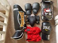 kickboxing boxing package kit like new shin guards boxing gloves etc