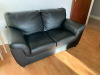 FREE 2 + 3 seater couches black