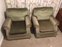 Pair of comfy armchairs
