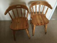 2 dining chairs for sale