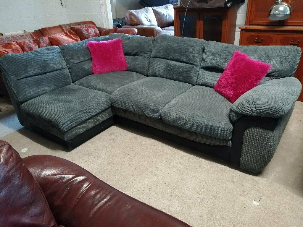 check out eae0f c25ec Wyvern Grey & Black corner sofa Settee Delivery Poss | in Crewe, Cheshire |  Gumtree