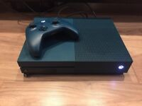 Xbox One S 500GB (Blue Edition) 3 games & 2 pads/controllers