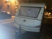5 berth caravan with bunks