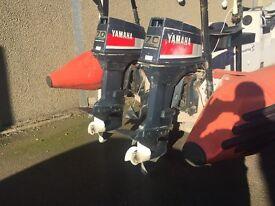 2 Yamaha 60 hp outboard engines