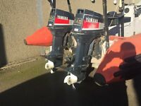 2 Yamaha 60 hp outboard engines