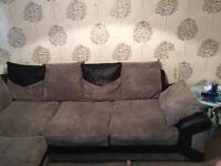 Grey corner settee