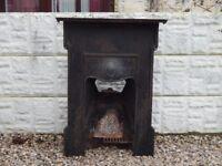 cast iron fireplace / cast insert / vintage / salvage / garden / mantle / fire surround / fire