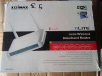 Edimax nlite wireless broadband router used