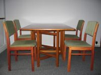 REDUCED - folding table and 4 chairs
