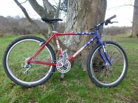 KHS Montana crest retro mountain bike 1990's 21 speed Deore lx Araya wheels