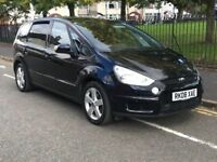 2008 FORD S-MAX TITANIUM 2.0TDCI 6 SPEED MANUAL 7 SEATER MPV BLACK DIESEL
