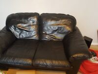 BLACK 2 SEATER SOFA FREE