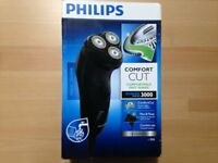 **BRAND NEW** PHILIPS SERIES 3000 FULLY WASHABLE MENS ELECTRIC SHAVER PT711