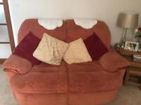 Terracotta 2 x 2 Seater Recliner Chair