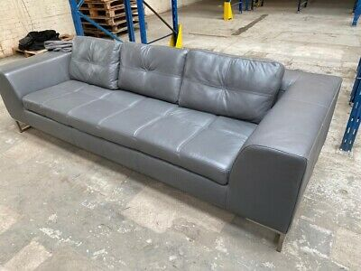 Dwell Leather Three Seater Sofa