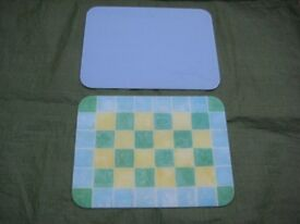 Two Complementary Coloured Glass Kitchen Chopping Boards - 2 for £6.00