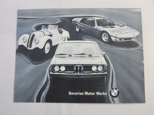 Vintage BMW Sales Brochure Catalog 3.0CS 2002 2002Tii 3.0S Bavaria Turbo FRENCH