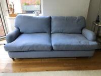 Loaf Jonesy Sofa (medium) in China Blue Brushed Cotton