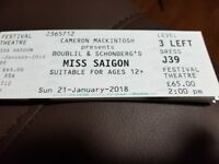 Miss Siagon tickets x 2